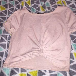 Cropped blush pink top